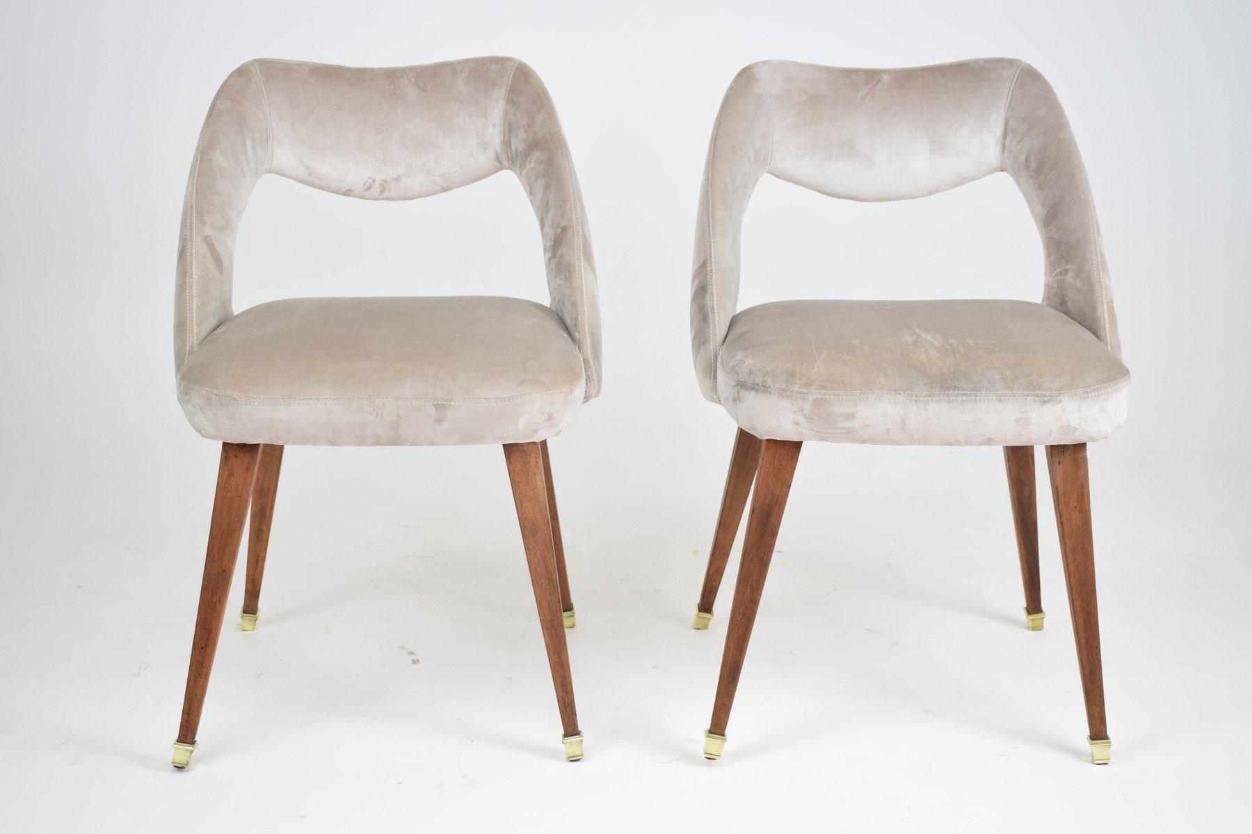 stuhl mit samtbezug 1970er bei pamono kaufen. Black Bedroom Furniture Sets. Home Design Ideas