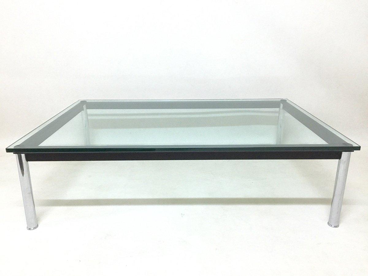 table basse vintage lc10 rectangulaire par le corbusier pour