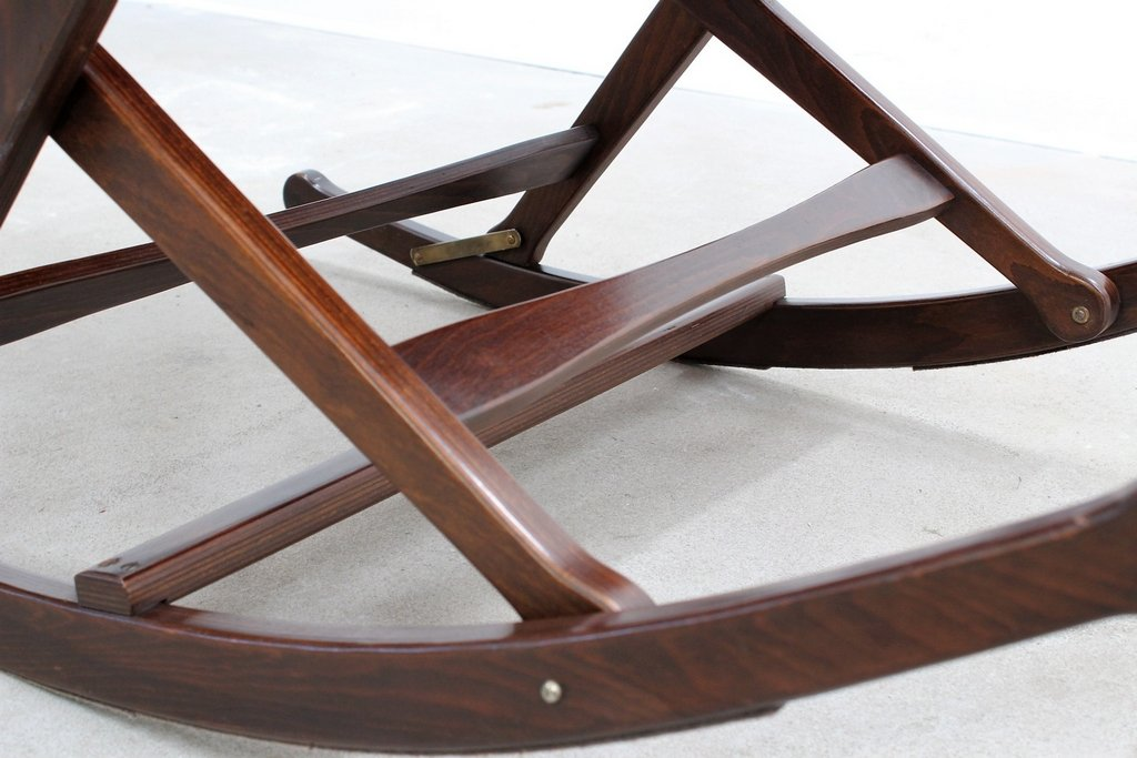 Mid Century Agnosine Rocking Chair From Fratelli Reguitti