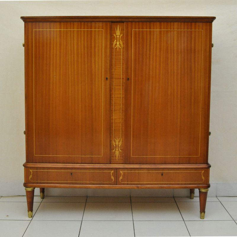 gro e vintage kommode mit einlegeb den 1950er bei pamono kaufen. Black Bedroom Furniture Sets. Home Design Ideas