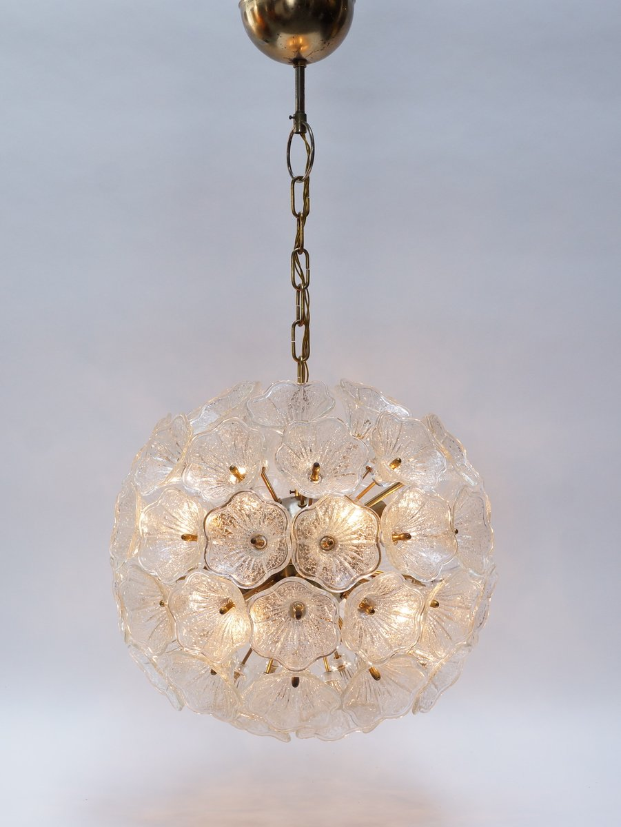 Murano Glass Flower Chandelier From Murano 1960s For Sale