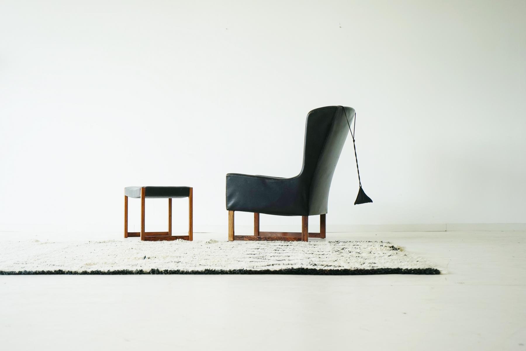 modell 6480 palisander sessel mit hocker von alfred kill f r kill international 1960er bei. Black Bedroom Furniture Sets. Home Design Ideas