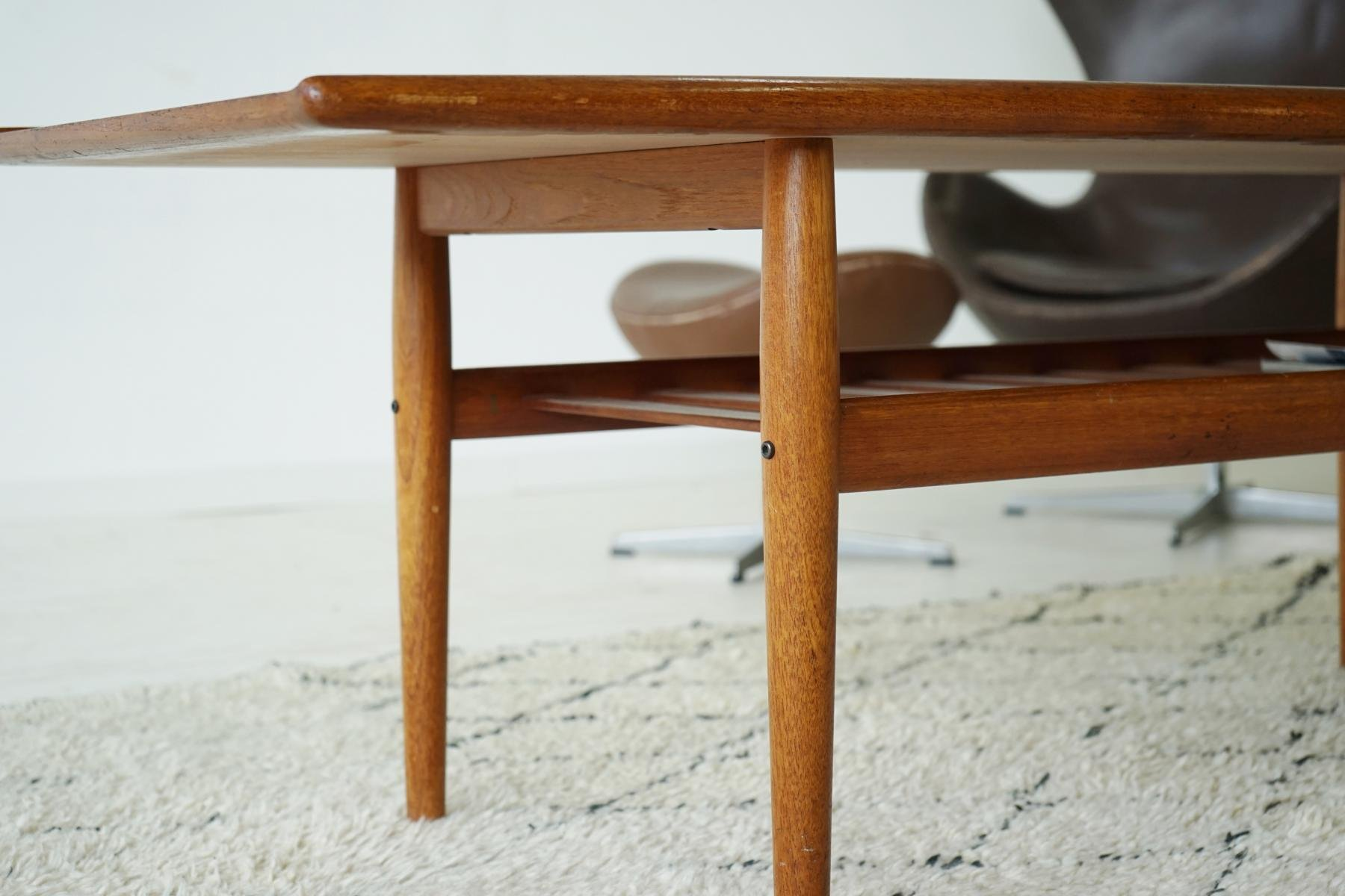 Danish coffee table in solid teak by grete jalk for glostrup 1960s for sale at pamono Solid teak coffee table