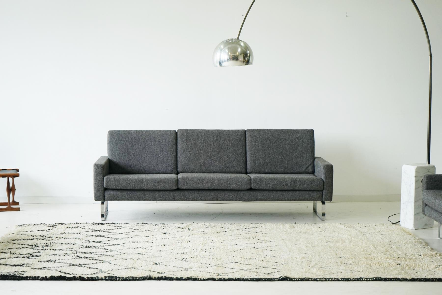 three seater sofa two lounge chairs from asko 1960s. Black Bedroom Furniture Sets. Home Design Ideas