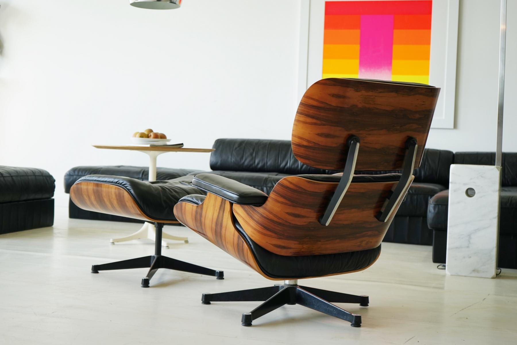 Vintage Lounge Chair with Ottoman by Charles & Ray Eames for Vitra for sa