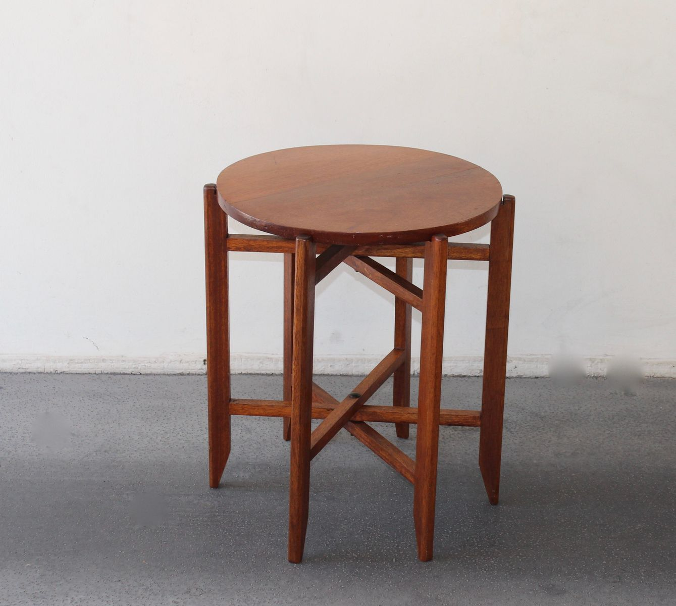 folding wooden table 1950s for sale at pamono. Black Bedroom Furniture Sets. Home Design Ideas