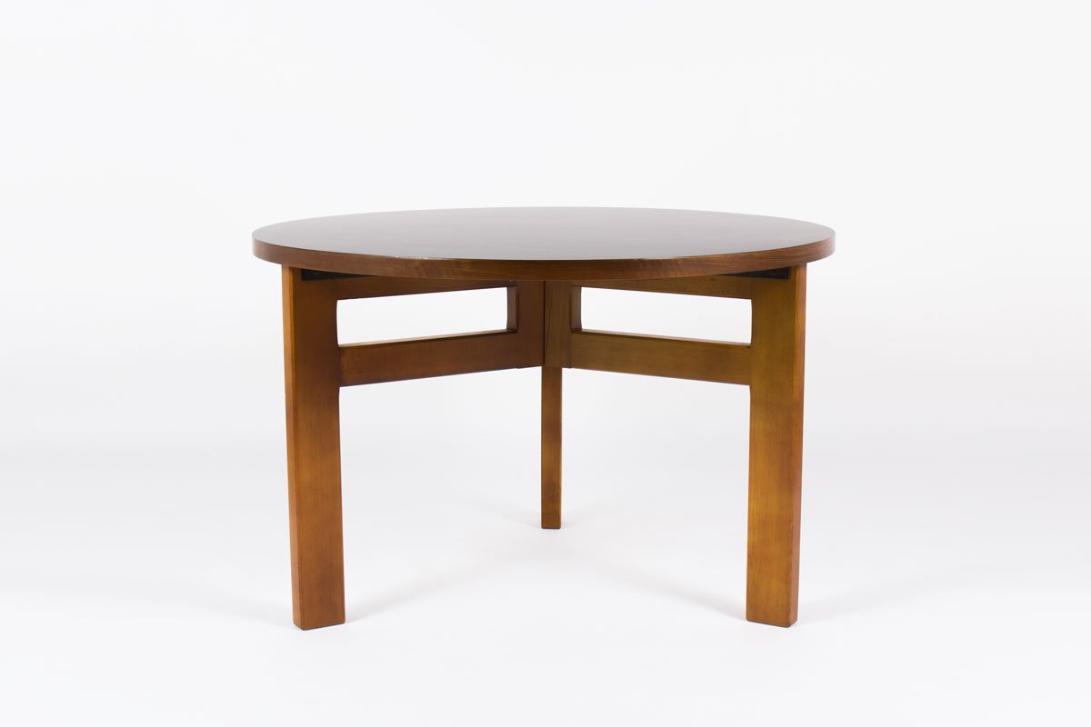 Mid century french round dining table by andre sornay for French round dining table