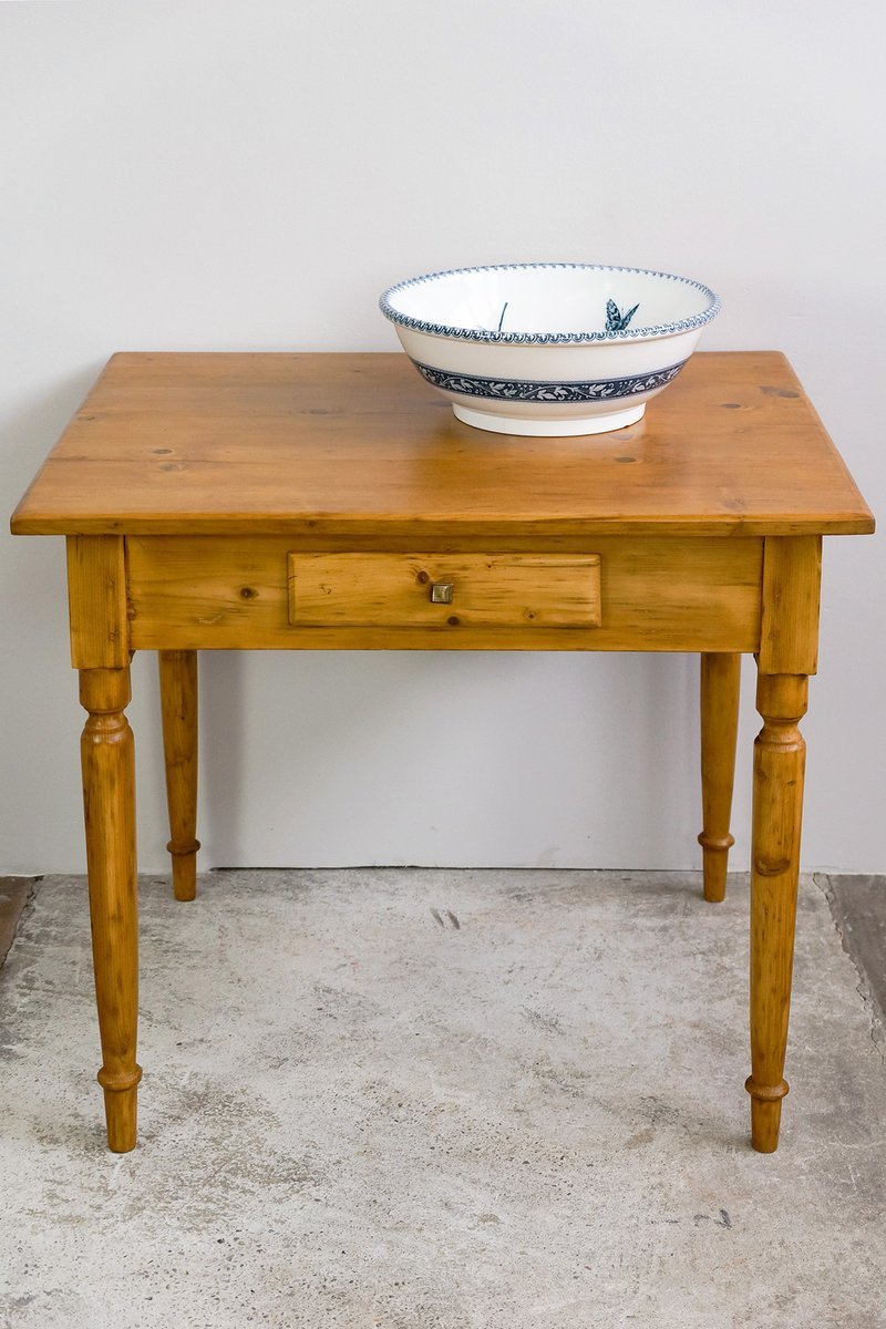 Antique small kitchen table for sale at pamono for Small kitchen tables for two
