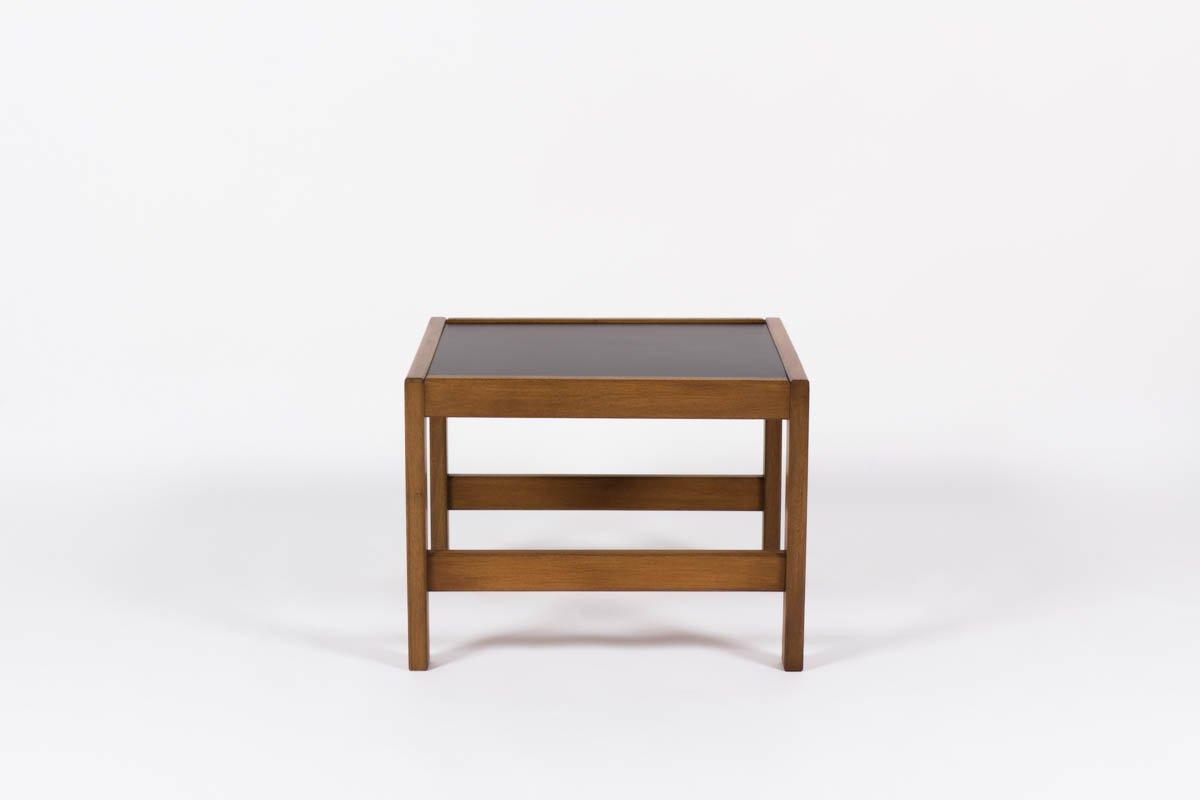 small mahogany coffee table with black laminateandre sornay