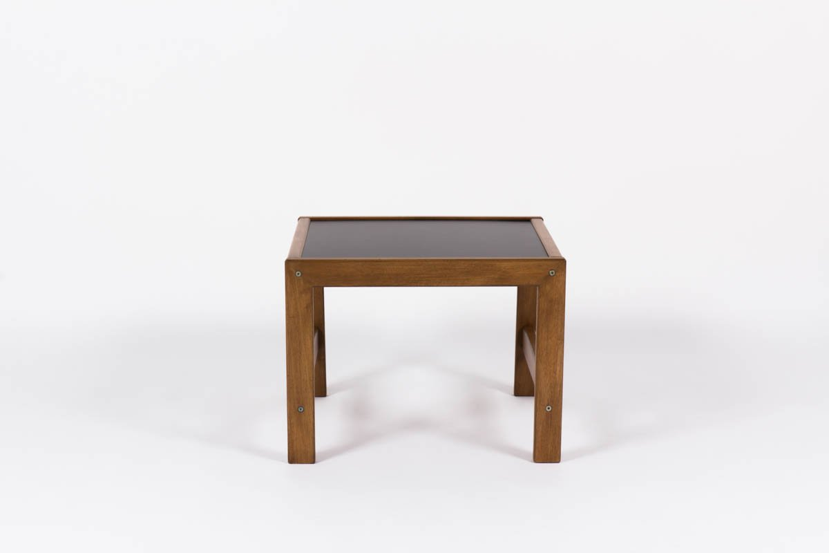 Small Mahogany Coffee Table With Black Laminate By Andre Sornay 1950s For Sale At Pamono