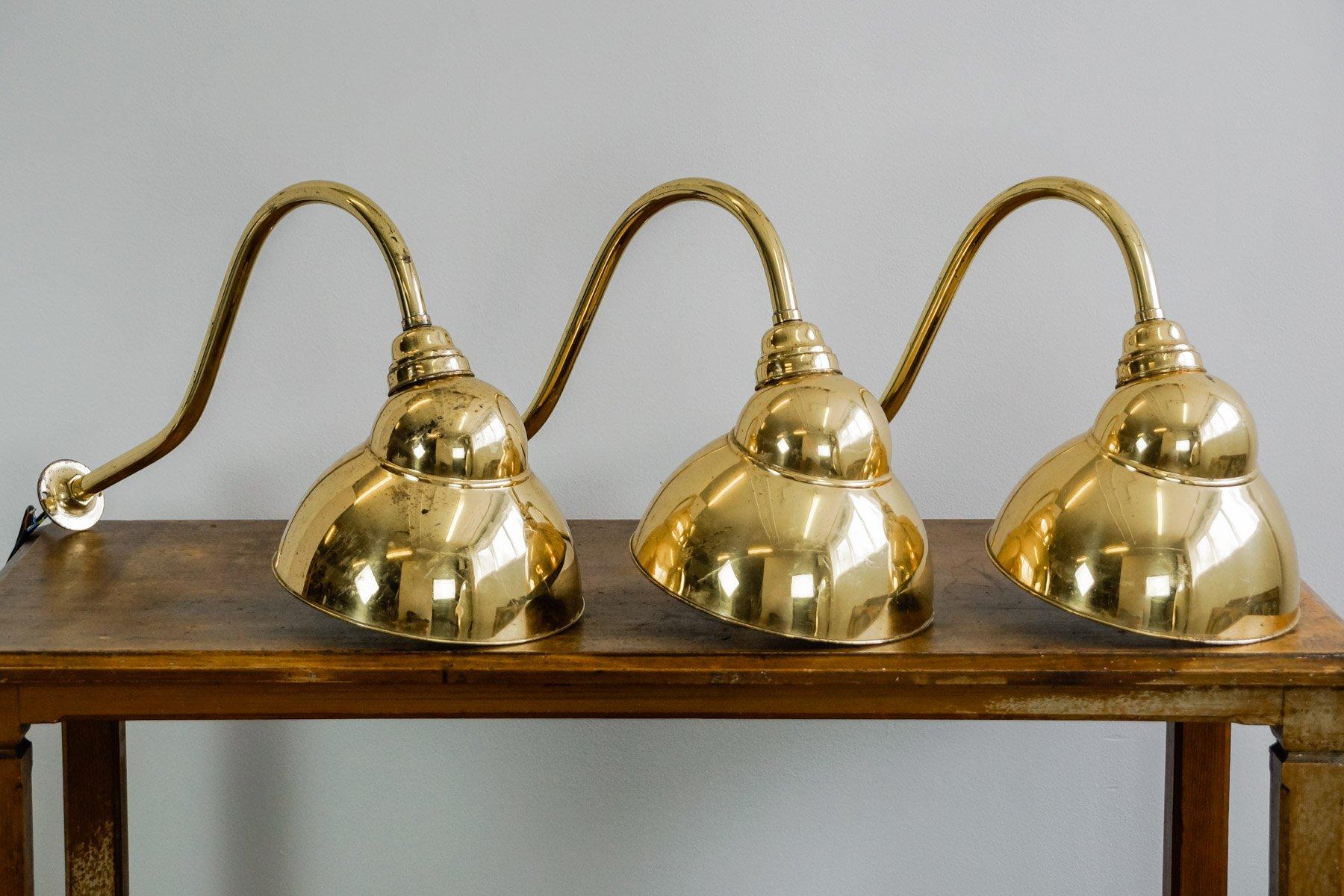 Vintage English Brass Spotlight Sconce, 1920s for sale at Pamono