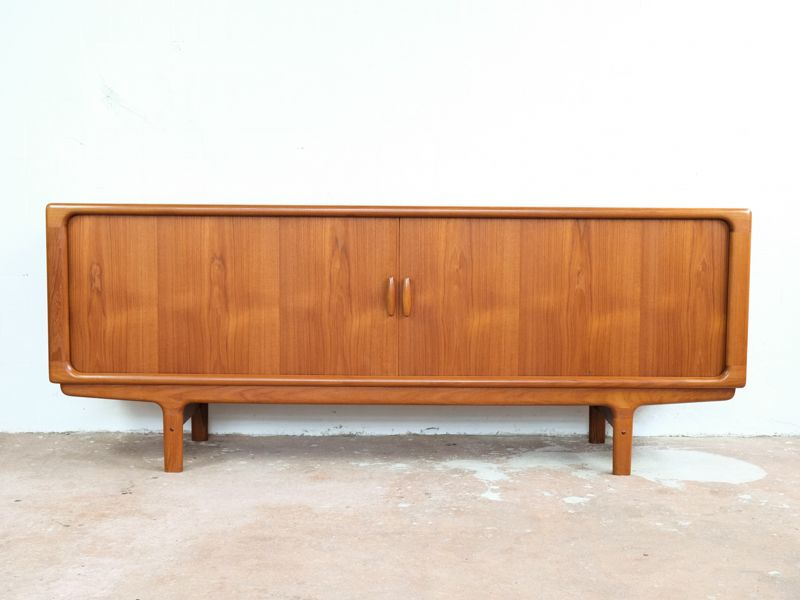 Mid-Century Danish Teak Sideboard with Tambour Doors from Dyrlund & Mid-Century Danish Teak Sideboard with Tambour Doors from Dyrlund ... Pezcame.Com