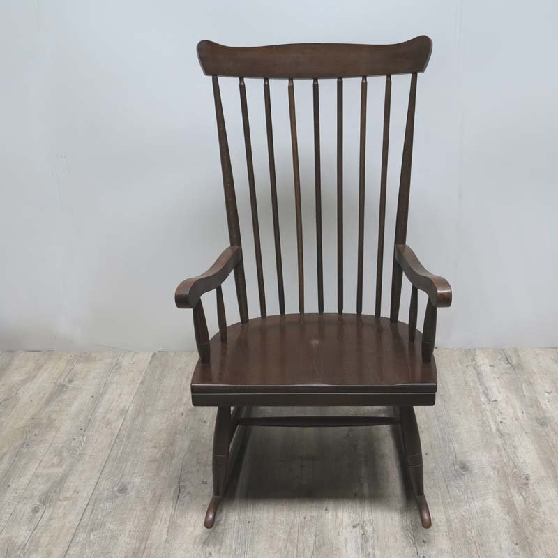 Mid century scandinavian wooden rocking chair for sale at for Schaukelstuhl outdoor holz