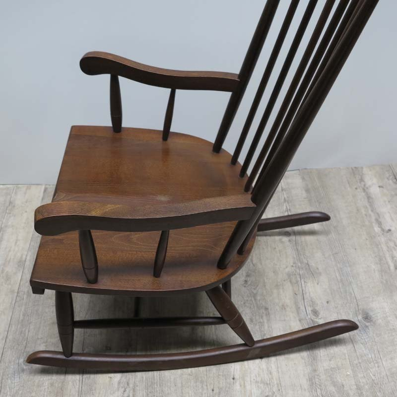 mid century scandinavian wooden rocking chair for sale at. Black Bedroom Furniture Sets. Home Design Ideas