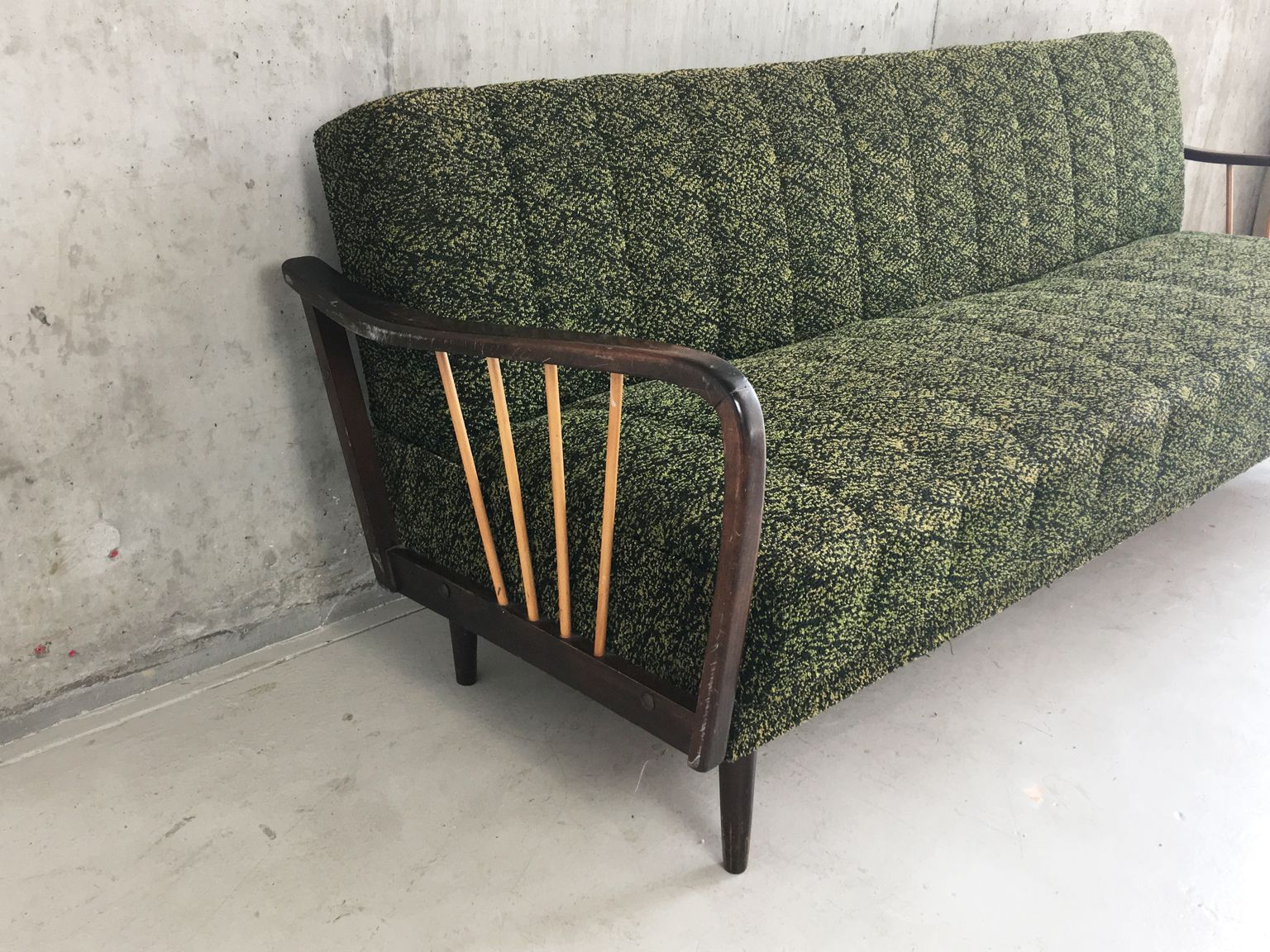 Mid century german green sofa bed 1960s for sale at pamono for Sofa bed germany