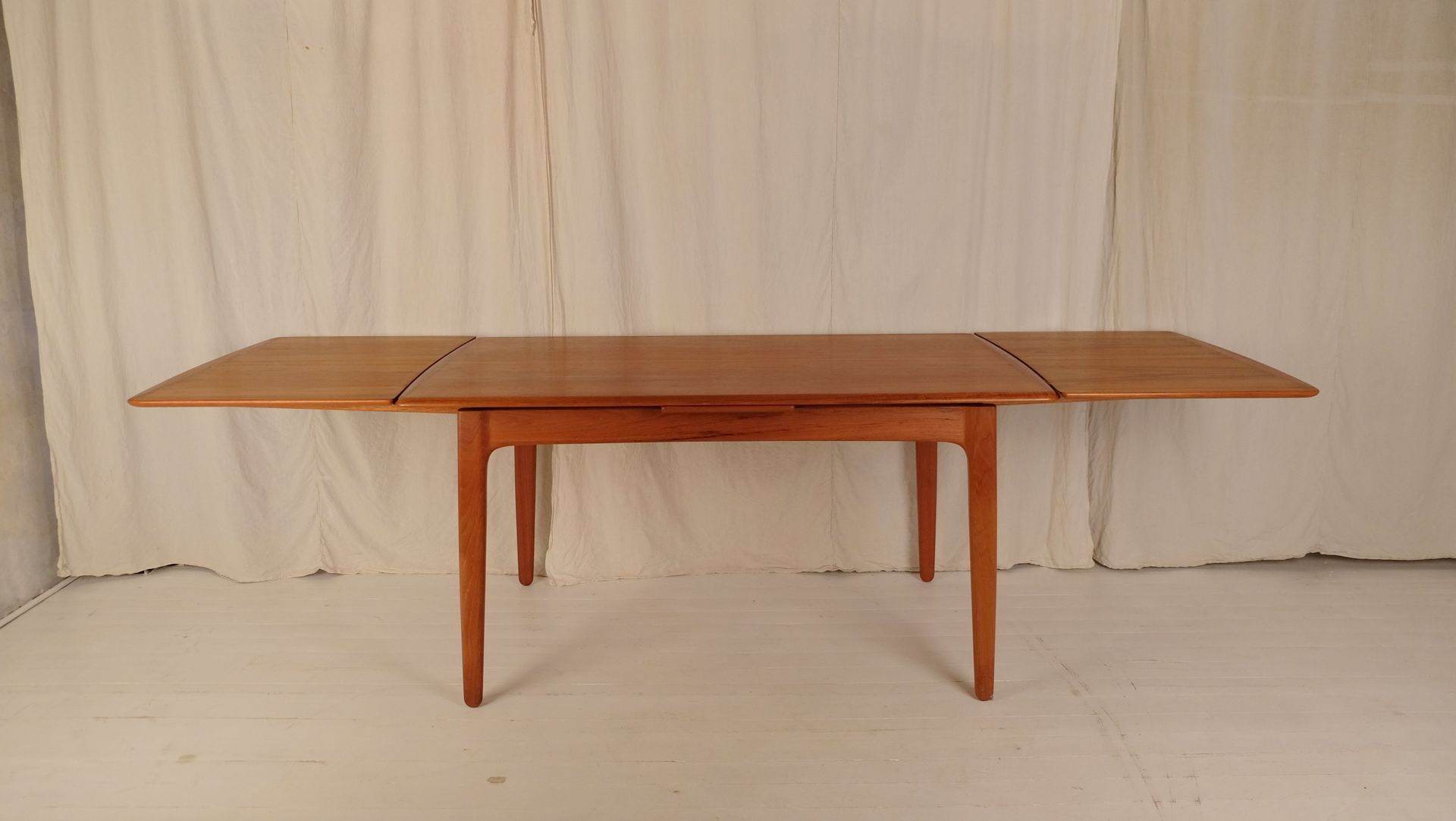 Mid century dining table - Mid Century Dining Table With 6 Chairs By Johannes Andersen For Uldum M Belfabrik Set Of 7