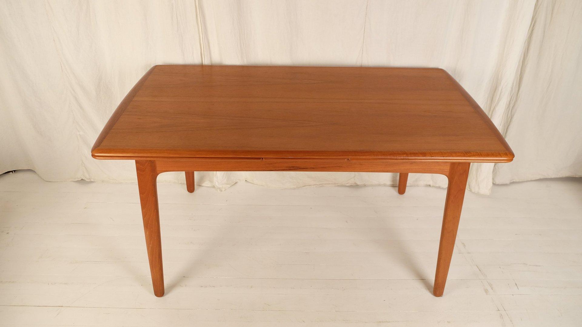 Table de salle manger mid century avec 6 chaises par johannes andersen pour - Table de salle a manger avec 6 chaises ...