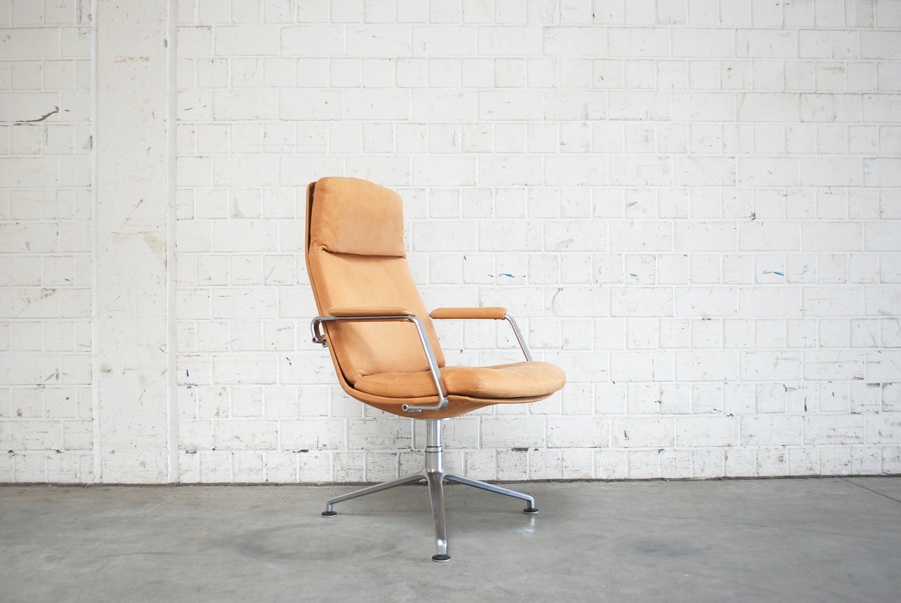 midcentury fk86 cognac sand leather office chair by preben fabricius u0026 jrgen kastholm for kill