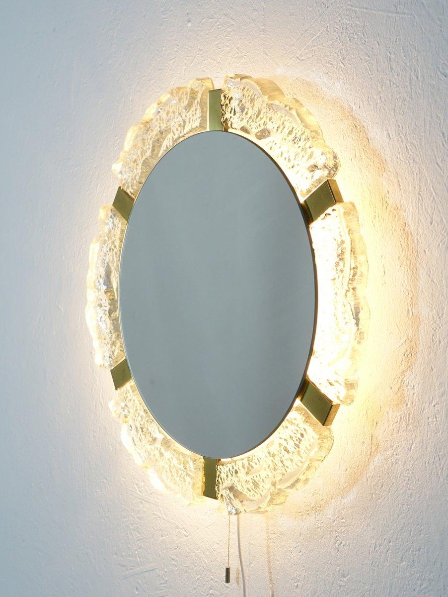 gro er beleuchteter spiegel im hollywood regency stil von. Black Bedroom Furniture Sets. Home Design Ideas