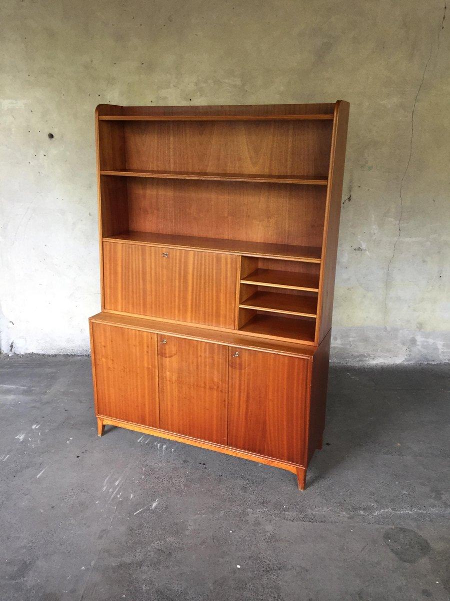 biblioth que vintage avec secr taire su de en vente sur pamono. Black Bedroom Furniture Sets. Home Design Ideas