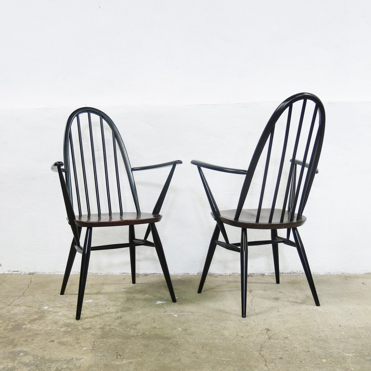 Quaker Back Windsor Armchairs By Lucian Ercolani For Ercol 1970s Set Of 6 F