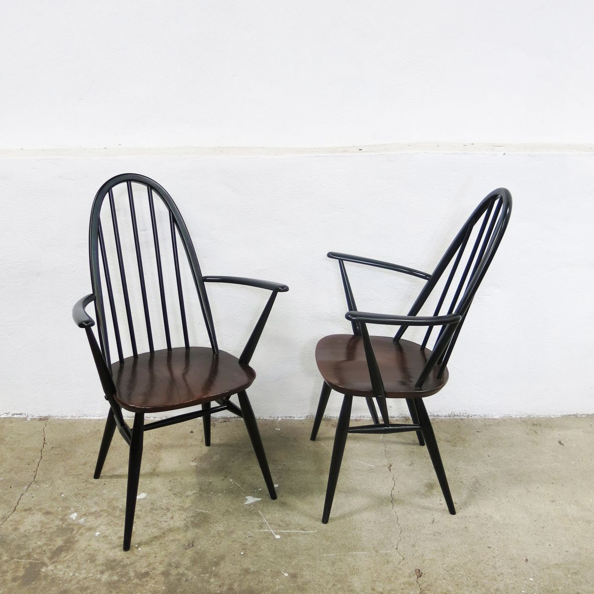 Vintage Quaker Back Windsor Armchairs By Lucian Ercolani For Ercol 1970s Se