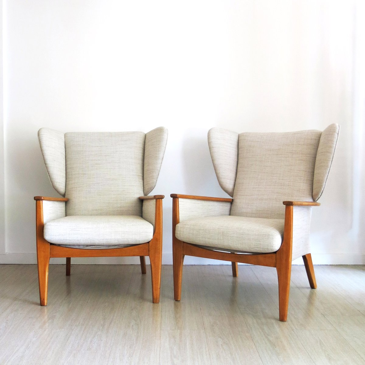 fauteuil oreilles vintage de parker knoll 1960s set de. Black Bedroom Furniture Sets. Home Design Ideas