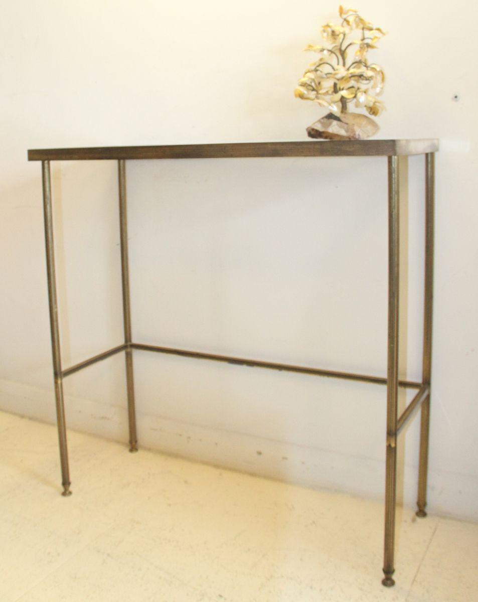 franz sischer vintage konsolentisch aus vergoldetem messing glas bei pamono kaufen. Black Bedroom Furniture Sets. Home Design Ideas