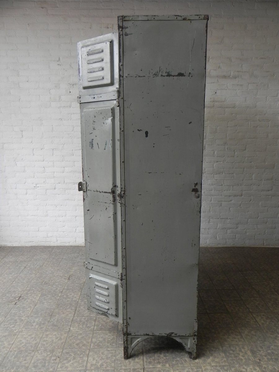 Vintage industrial steel locker with 4 doors for sale at for 18 door locker