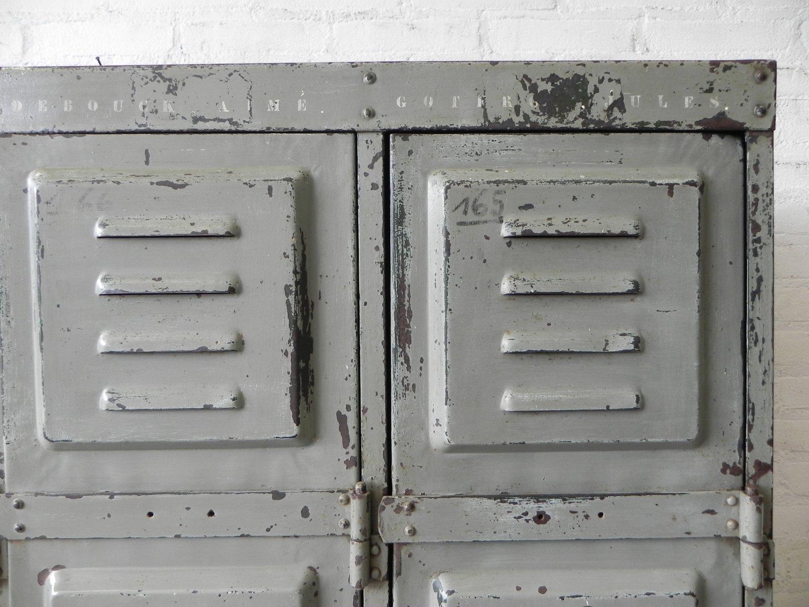 Vintage Industrial Doors For Sale : Vintage industrial steel locker with  doors for sale at