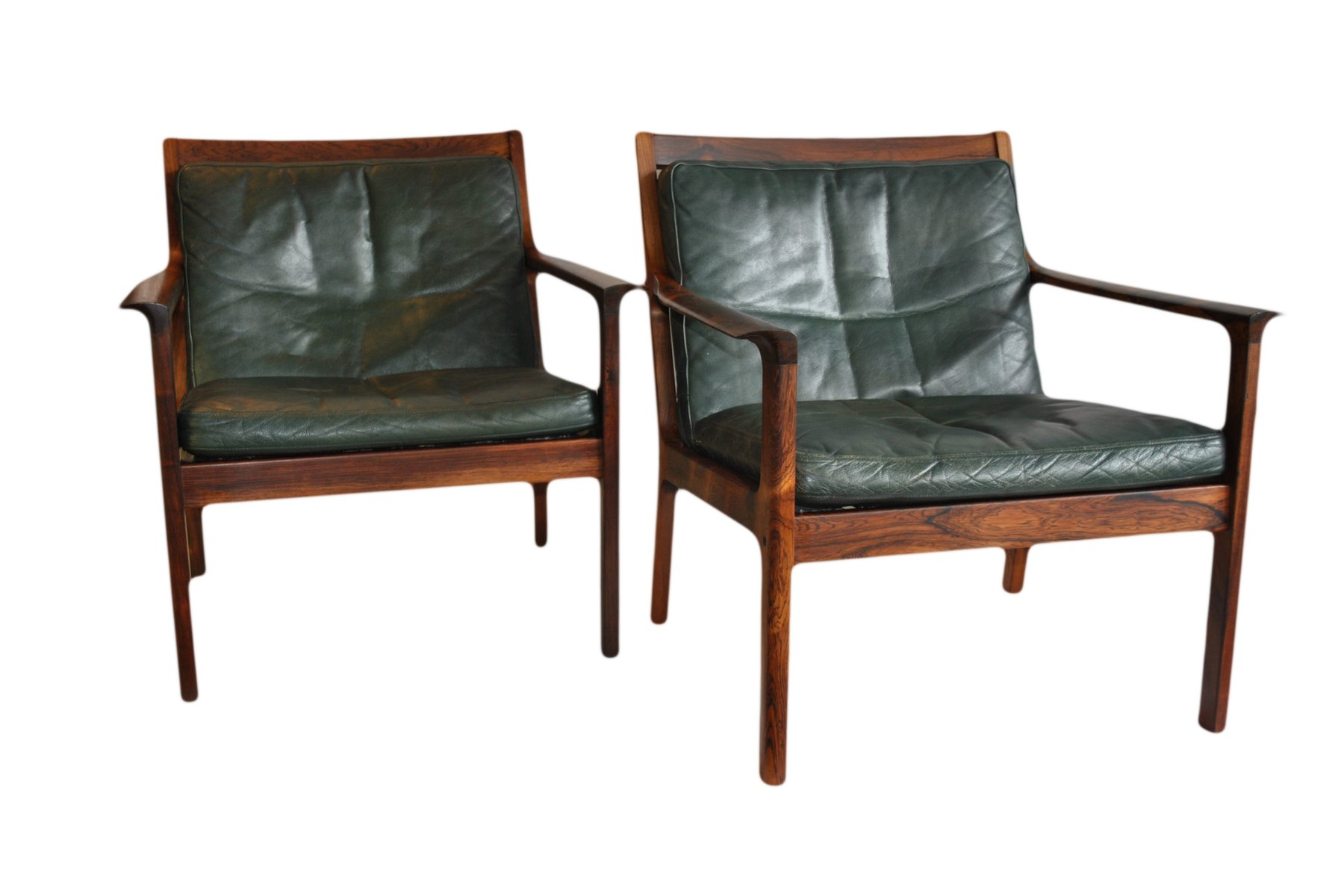 Rosewood Easy Chairs By Frederik Kayser For Vatne M 248 Bler