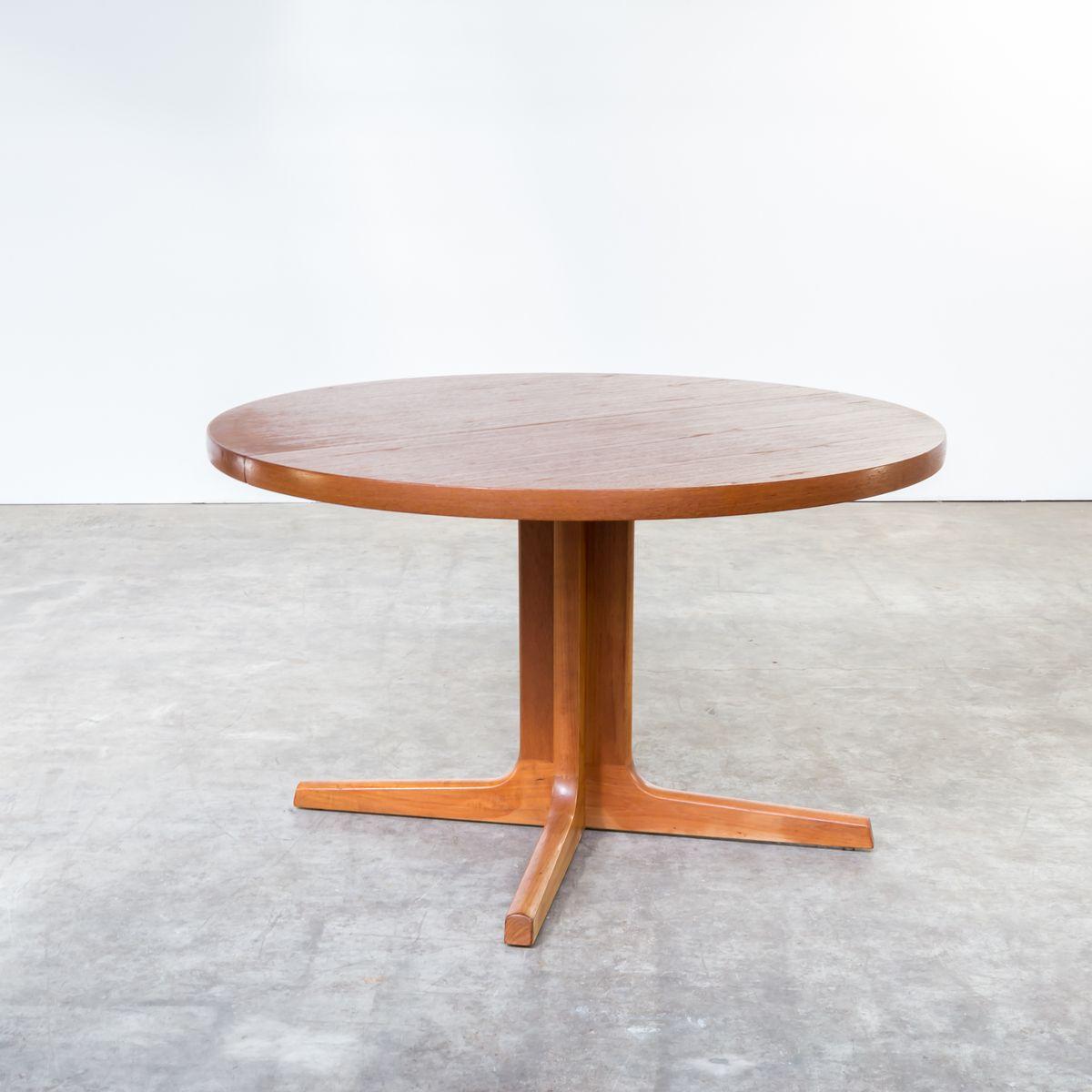 ovaler d nischer esstisch aus teak von am m bler 1960er bei pamono kaufen. Black Bedroom Furniture Sets. Home Design Ideas