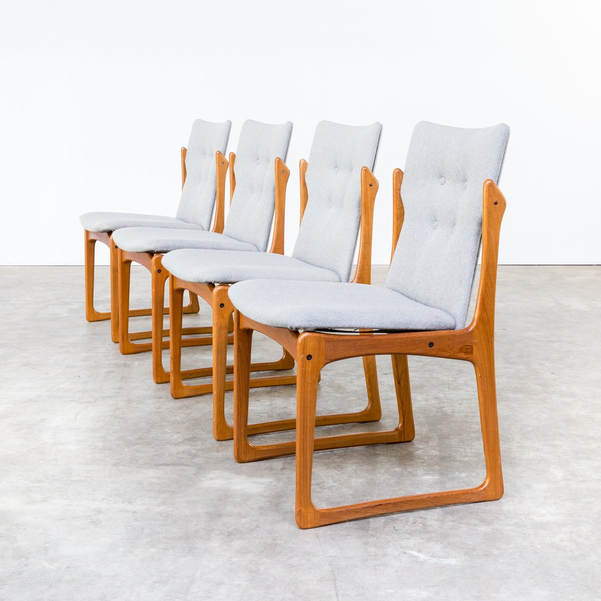 Mid Century Dining Room Chairs From Vamdrup Stolefabrik Set Of 4