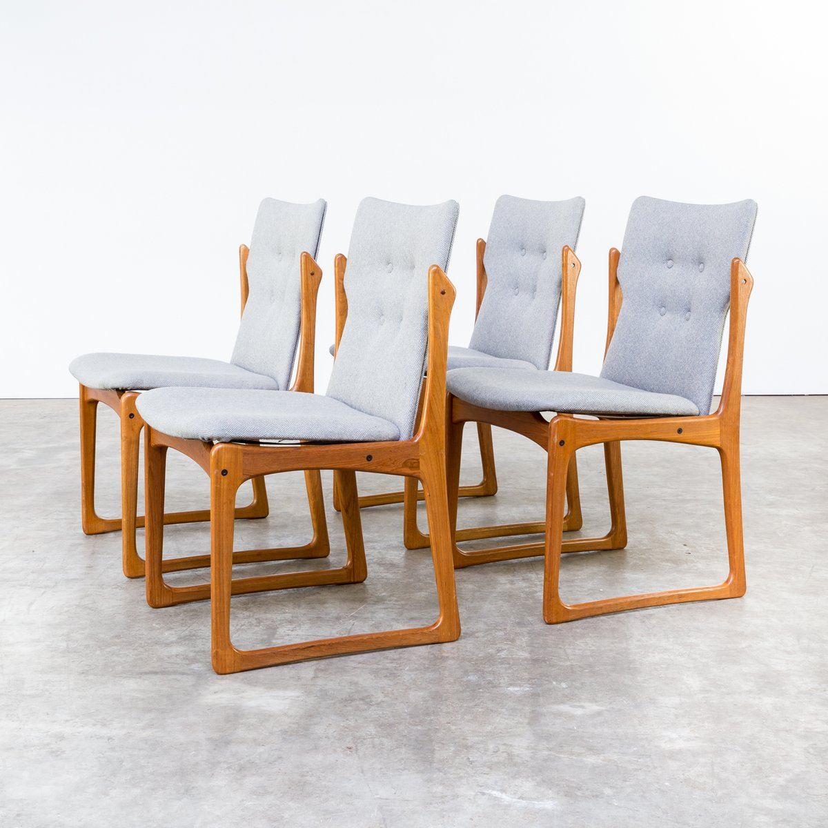 Price per set - Mid-Century Dining Room Chairs From Vamdrup Stolefabrik, Set Of 4