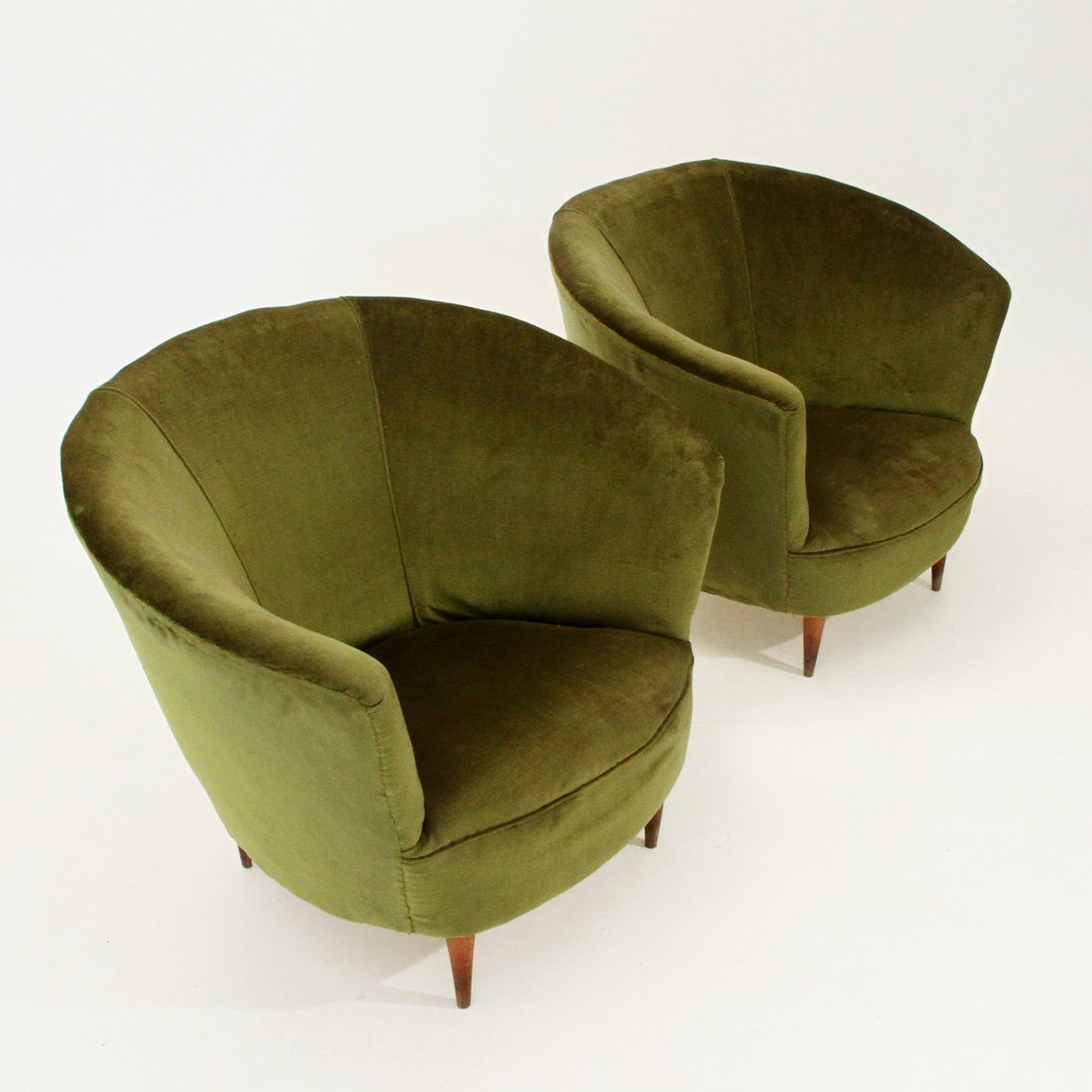 Velvet Armchairs 1940s Set Of 2 For Sale At Pamono