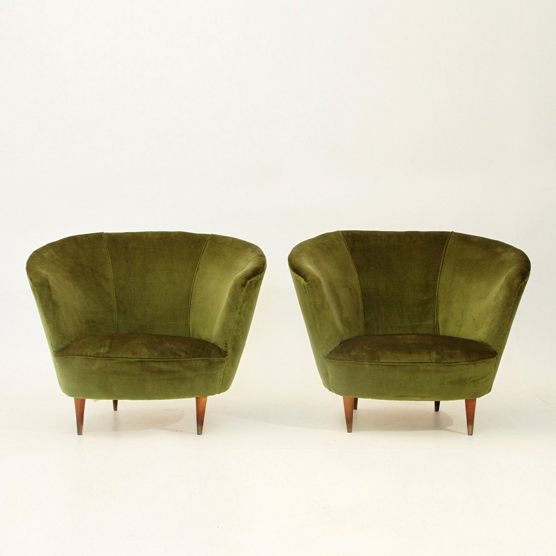 Velvet armchairs 1940s set of 2 for sale at pamono for 2 armchairs for sale