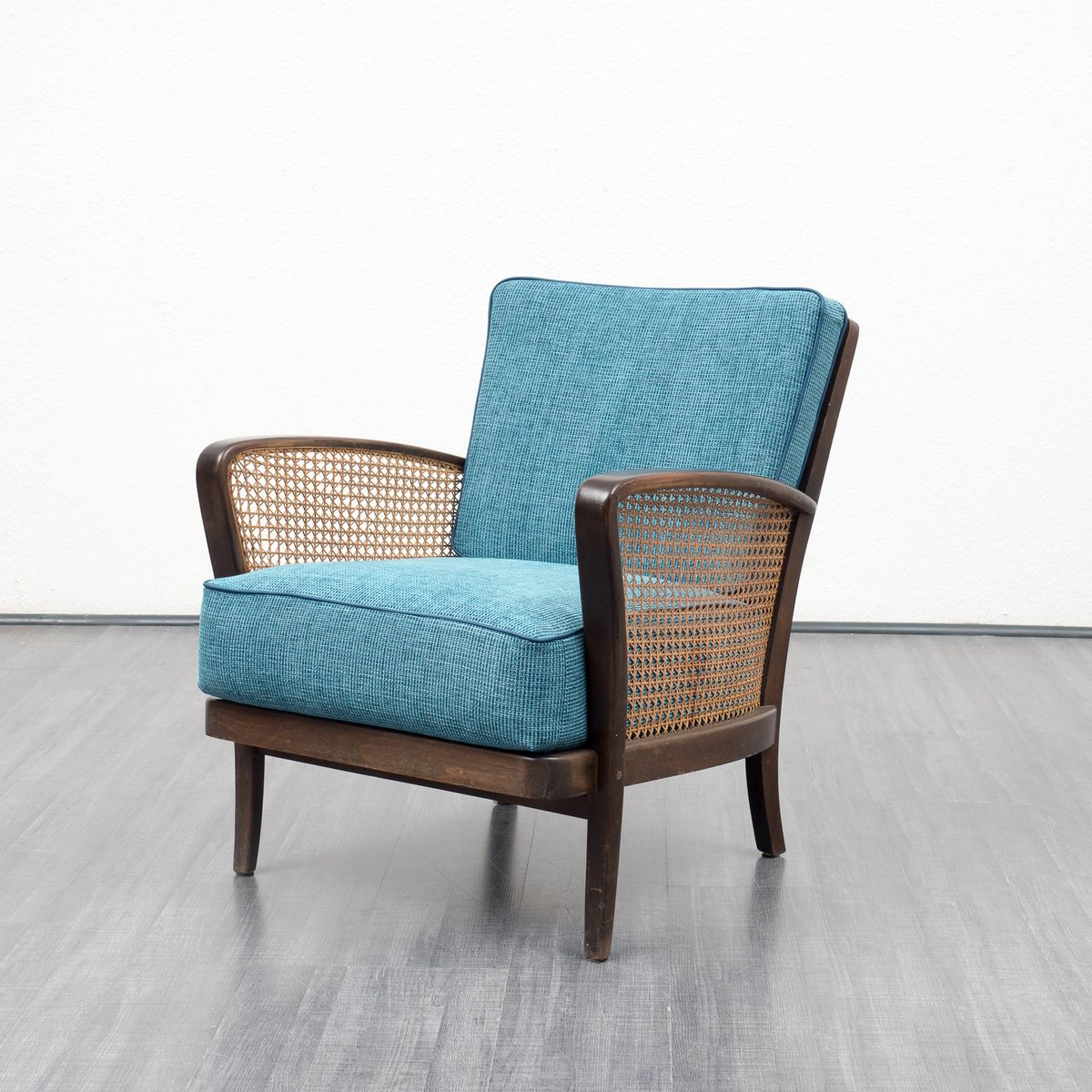 armchair with raffia 1950s for sale at pamono. Black Bedroom Furniture Sets. Home Design Ideas