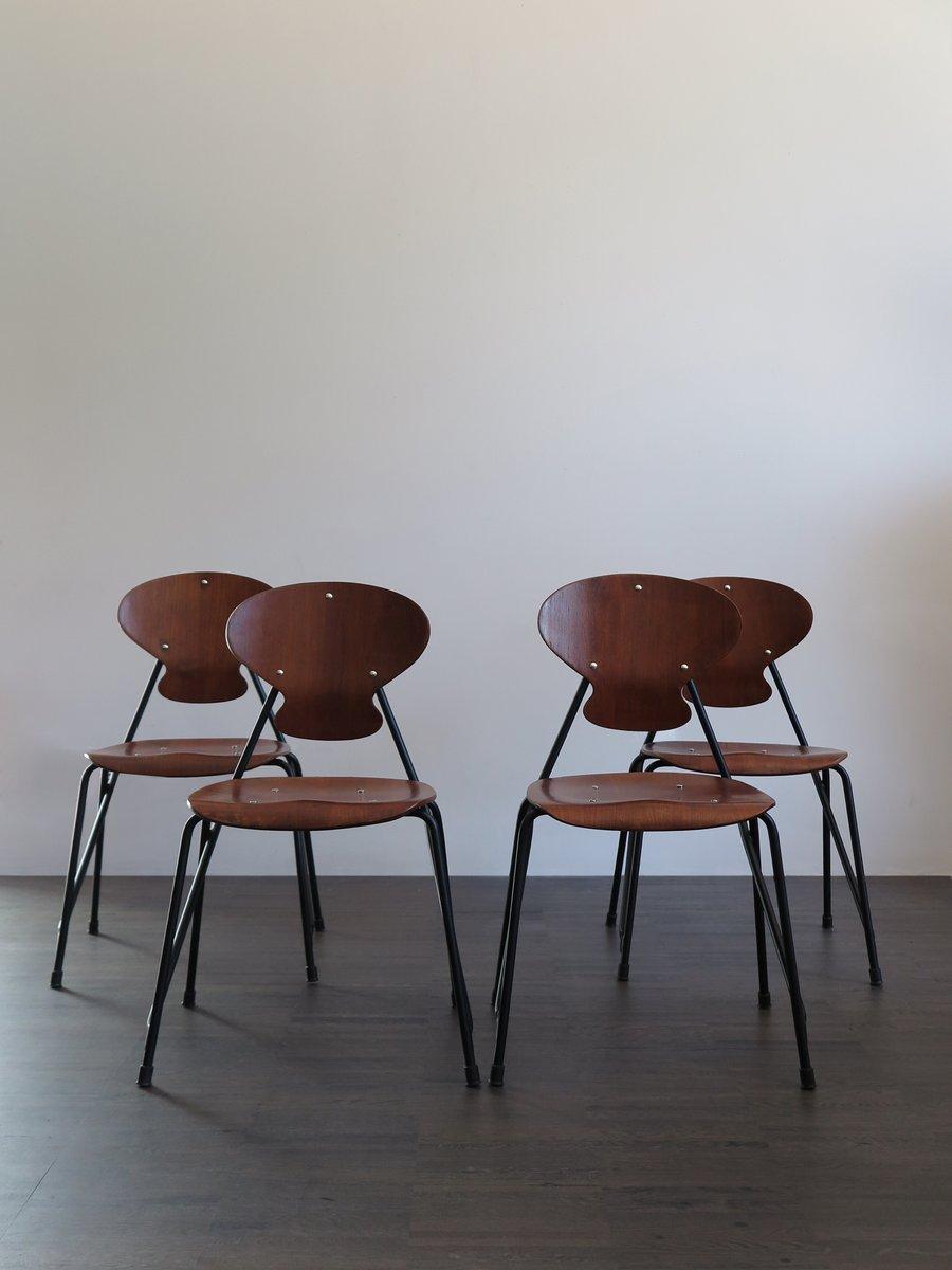 italienische st hle von isa 1960er 4er set bei pamono kaufen. Black Bedroom Furniture Sets. Home Design Ideas