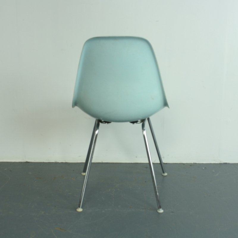 vintage duck egg blue dsx side chair by charles ray eames for herman miller for sale at pamono. Black Bedroom Furniture Sets. Home Design Ideas