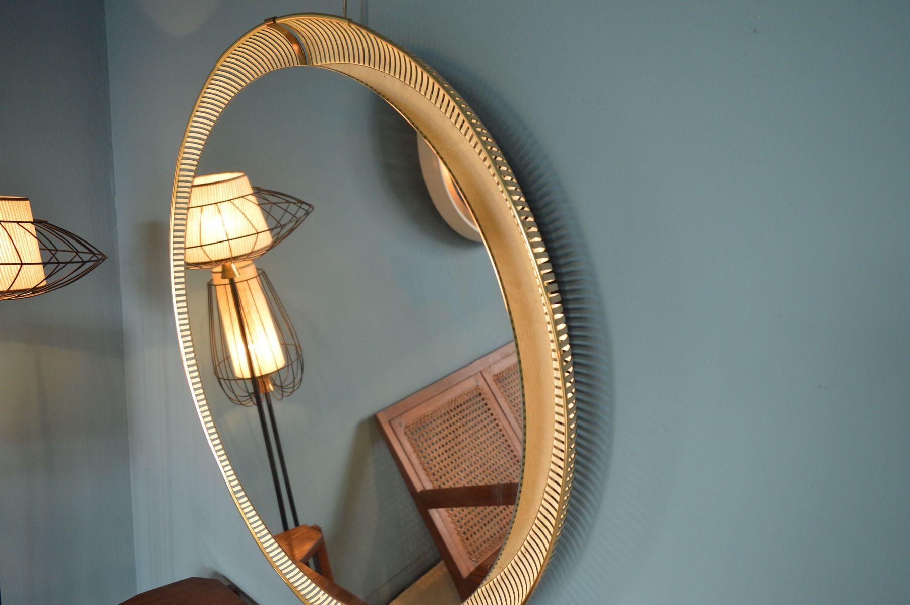 beleuchteter spiegel 1960er bei pamono kaufen. Black Bedroom Furniture Sets. Home Design Ideas