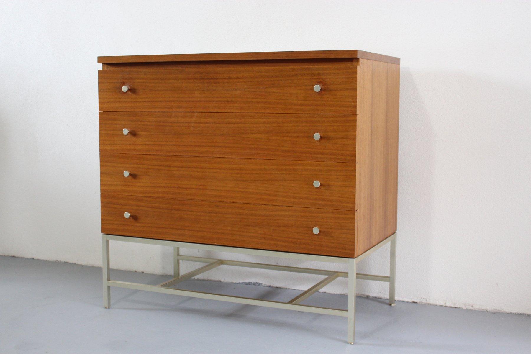 vintage nussholz kommode von paul mccobb f r wk m bel bei pamono kaufen. Black Bedroom Furniture Sets. Home Design Ideas