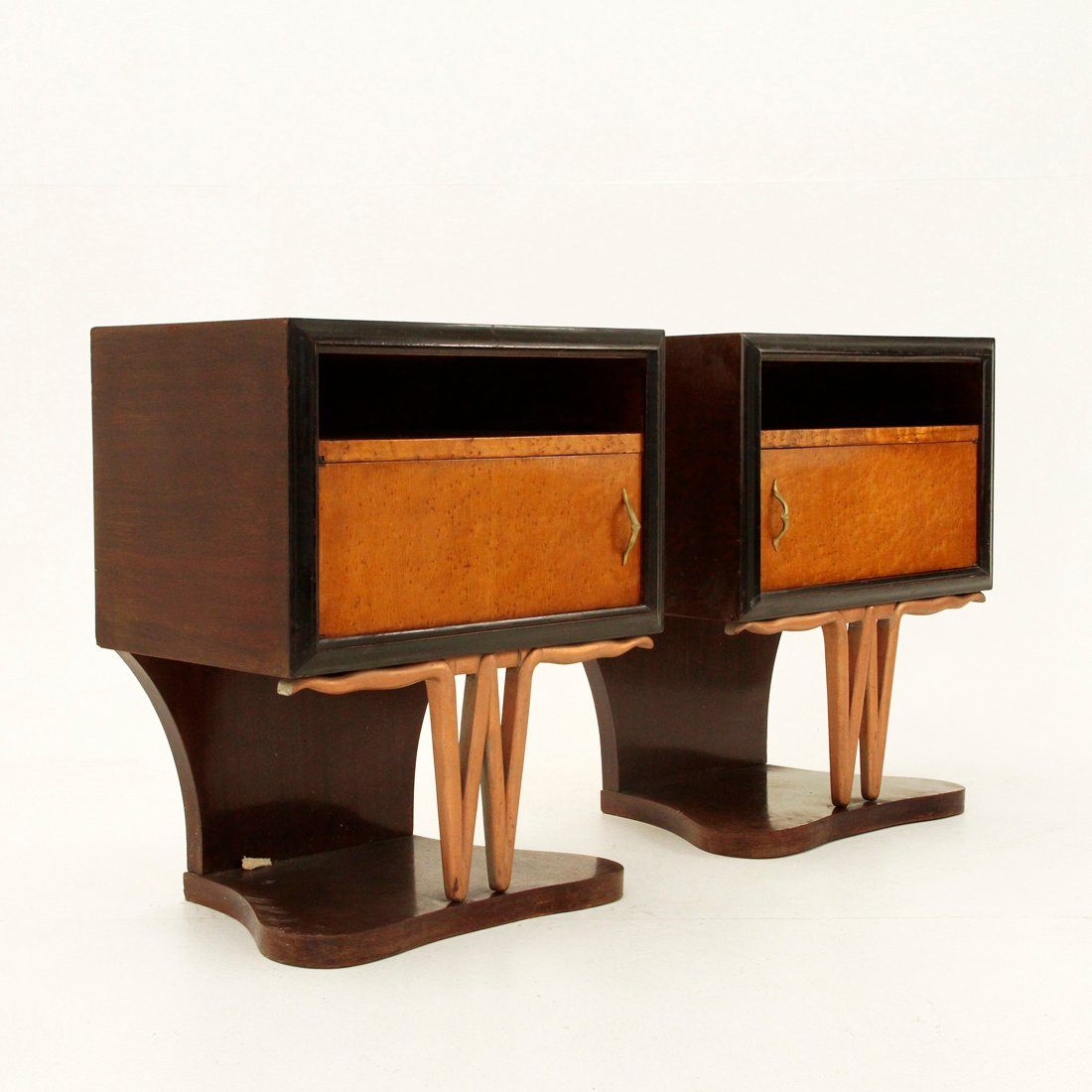 Mid Century Night Stands 1940s Set Of 2 For Sale At Pamono
