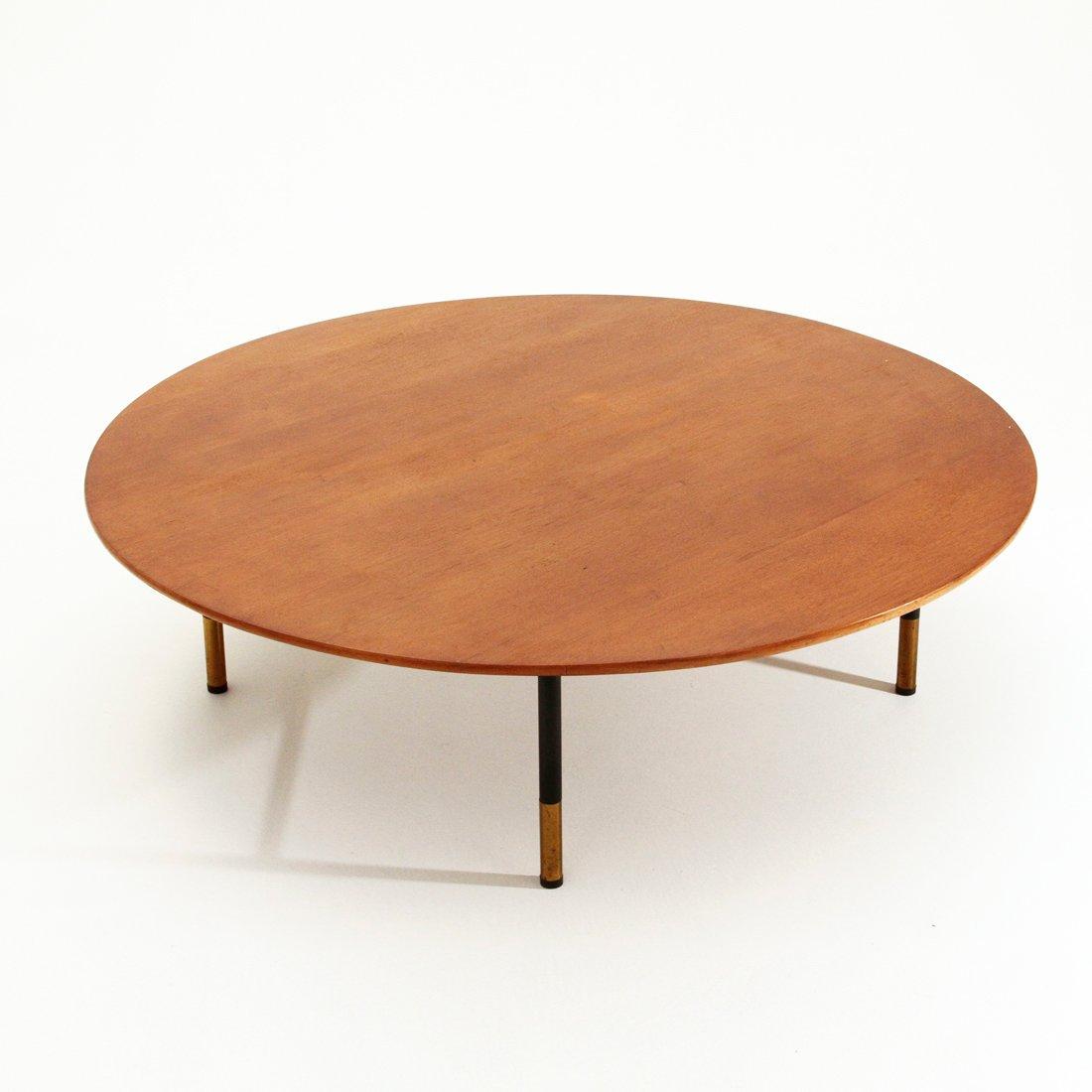 runder italienischer couchtisch 1950er bei pamono kaufen. Black Bedroom Furniture Sets. Home Design Ideas