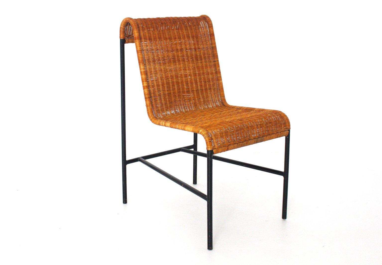 Superb Mid Century Modern Rattan Chair By Harold Cohen And Davis Pratt, 1953