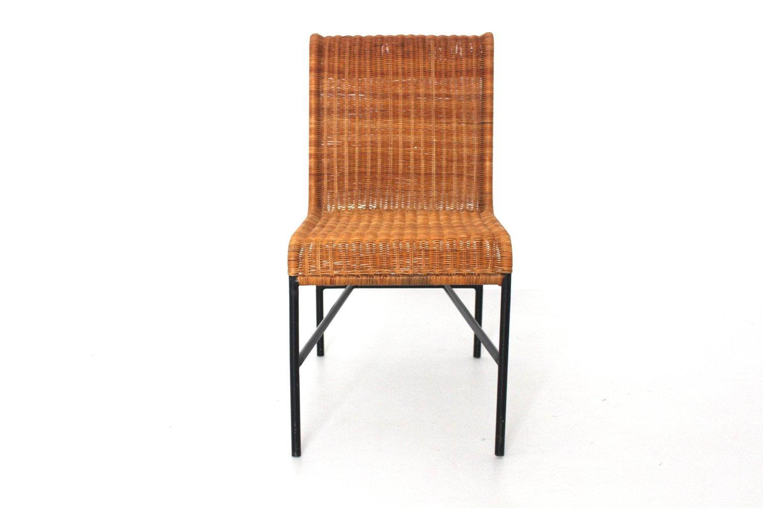 Mid Century Modern Rattan Chair By Harold Cohen And Davis Pratt, 1953