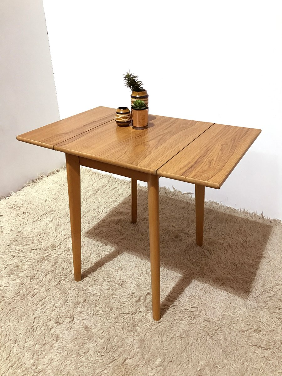 Vintage small formica kitchen drop leaf table 1950s for for Petite table rabattable