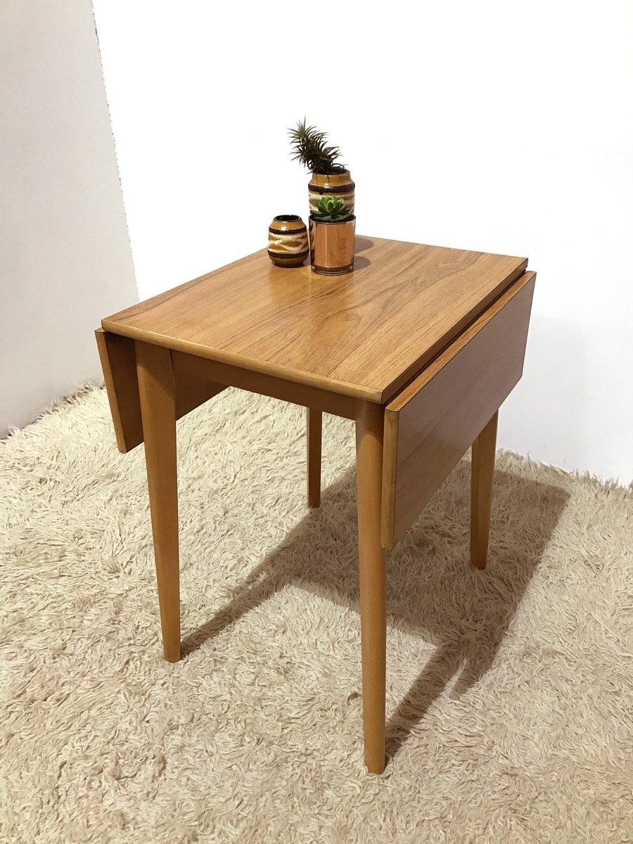 kleiner vintage formica k chentisch mit klapp platte. Black Bedroom Furniture Sets. Home Design Ideas