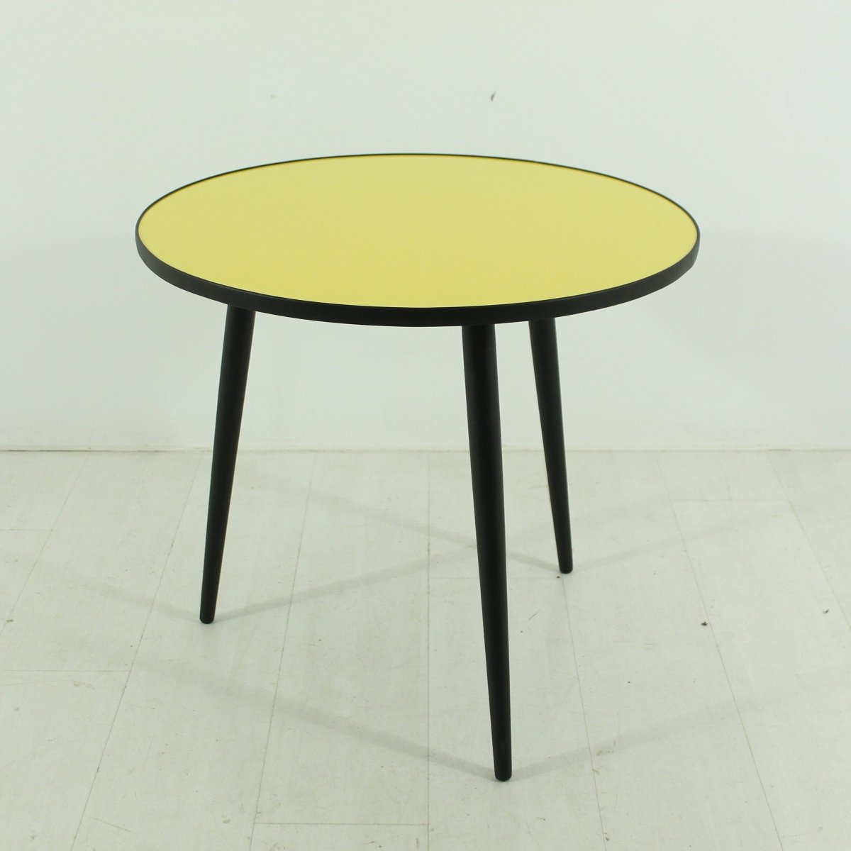 Yellow Black Coffee Table 1950s For Sale At Pamono