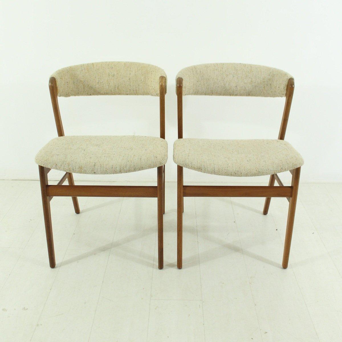 danish teak chairs 1960s set of 2 for sale at pamono