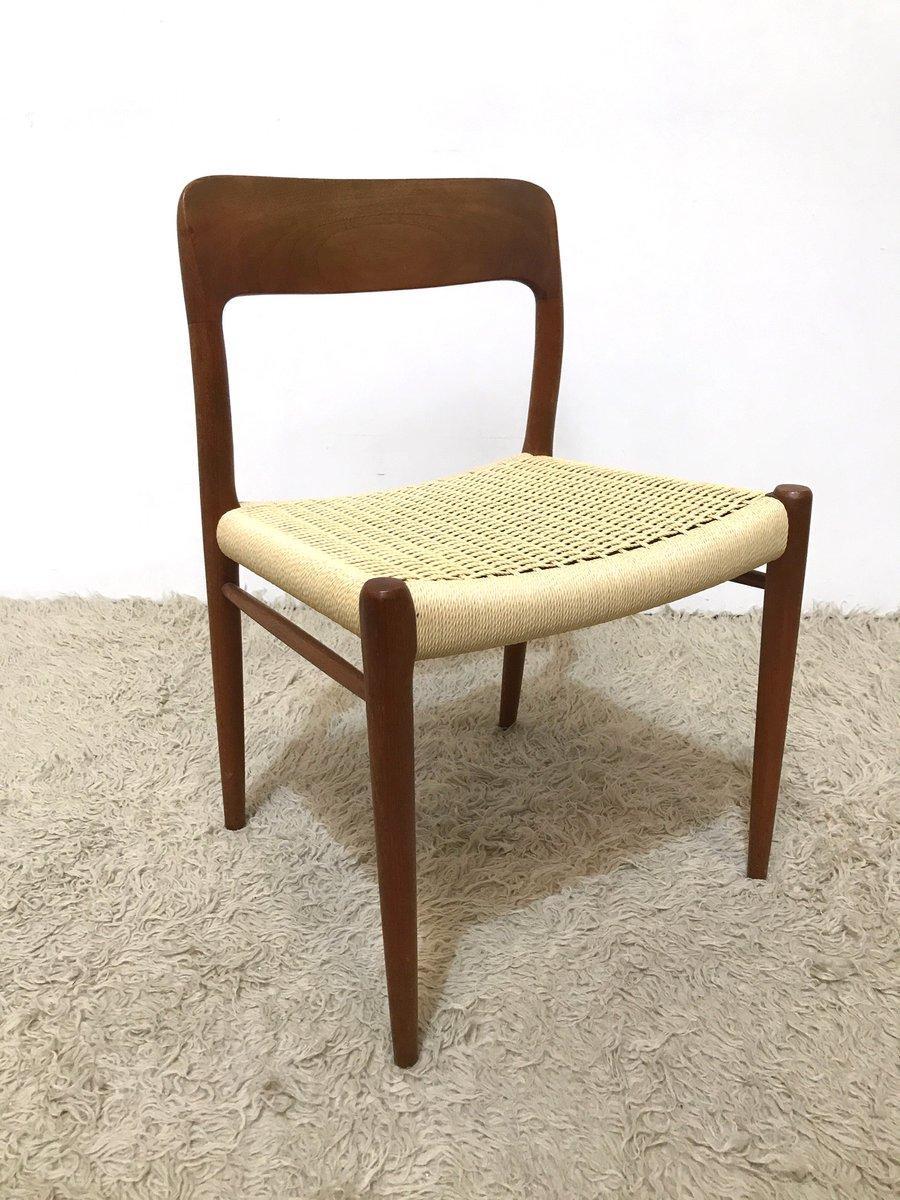 Vintage model danish teak chair by niels moller for j l